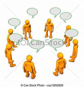 Small Group Discussion Clipart