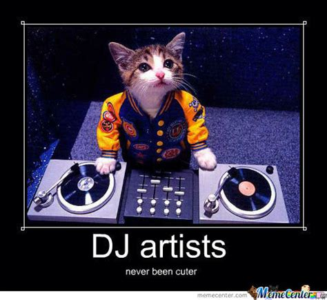 Meme Dj - dj cat by recyclebin meme center