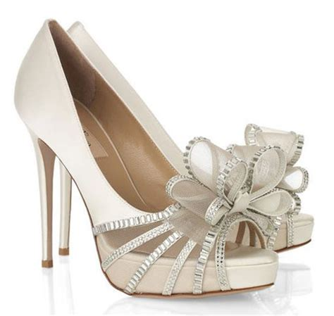 valentino wedding shoes beautiful bridal shoes valentino bow embellished satin sandals gt shoeperwoman