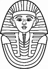Egyptian Egypt Coloring King Pharaoh Tut Pages Ancient Printable Drawing Sarcophagus Colouring Tomb Cleopatra Worksheets Kid Mummy Sheets Wecoloringpage Flag sketch template