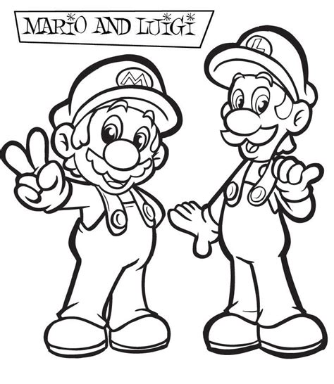 We have collected 35+ super mario bros coloring page images of various designs for you to color. Mario Coloring pages - Black and white super Mario drawings for you to color in