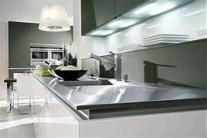 Hochglanz Weiß Küche : grifflose k che in hochglanz wei und steingrau ~ Michelbontemps.com Haus und Dekorationen