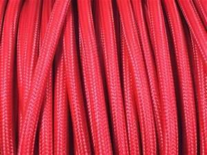 Au Fil Du Tissu : cable electrique tissu rouge ~ Melissatoandfro.com Idées de Décoration