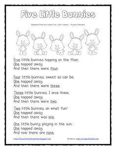 bunnies shared reading  finger puppetspdf