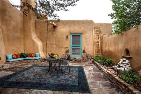 southwest backyard designs a small courtyard in santa fe new mexico this enclosed patio displays a lot of the elements