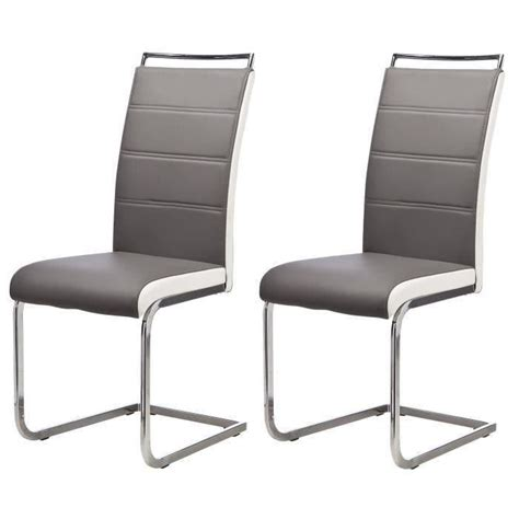 lot de 6 chaises de salle a manger lot de 6 chaises de salle 224 manger gris blanc achat vente chaise cdiscount