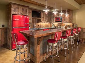 Lake House Barnwood Bar - Rustic - Home Bar - Other - by