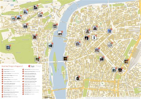 map  prague attractions sygic travel