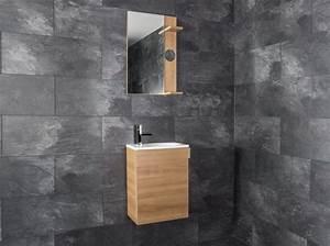 Badmöbel Für Gäste Wc : badm bel oporto ok f r g ste wc 40cm badezimmerm bel eiche ~ Michelbontemps.com Haus und Dekorationen
