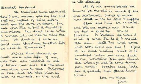 Sample Of Christmas Letter To A Husband