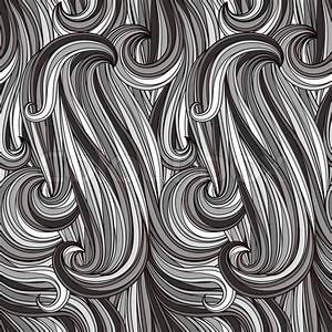 Vector Seamless Abstract Monochrome Pattern  Looks Like
