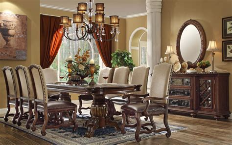 how to set a formal dining room table ashley formal dining room table set