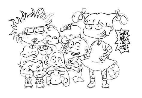 List Of Rugrats Characters Coloring Pages