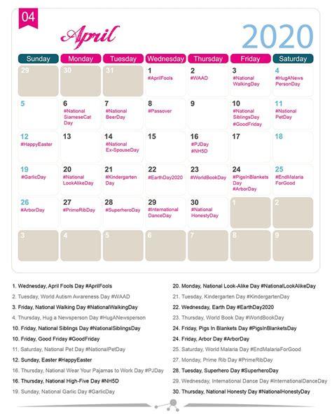 The 2020 Social Media Holiday Calendar - Make A Website Hub