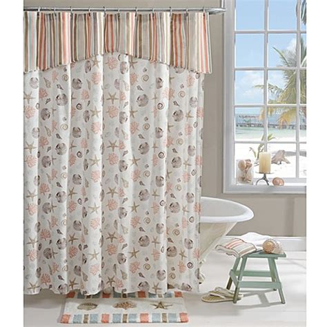 coral shower curtain aruba 72 inch x 72 inch shower curtain in coral bed bath