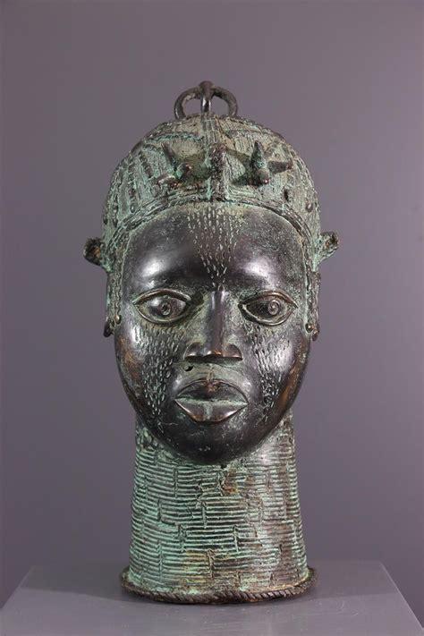 Tête commémorative reine Bénin | Art africain traditionnel ...