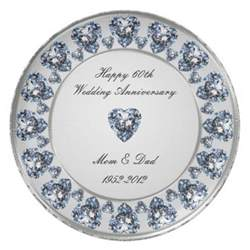 60 wedding anniversary 60th wedding anniversary plate zazzle
