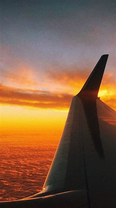 Iphone Travel Fly Sunset Wallpapers Ipad Trending