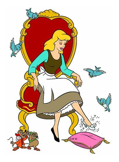 Cinderella Clipart Disney Clip Mice Coloring Pages