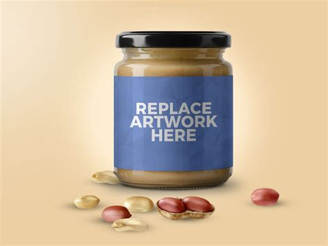 1 month free trial download. Peanut Butter Jar Mockup - Mockup Love