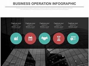 Sample Advertising Proposal Five Staged Business Operation Infographics Flat