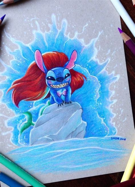 artist loves drawing stitch mash ups