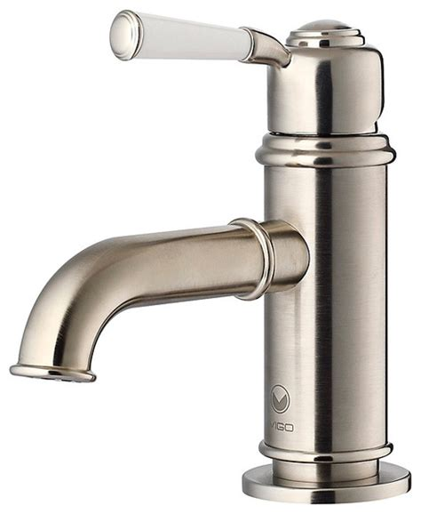 Brushed Nickel Bathroom Faucets by Vigo Boreas Brushed Nickel Single Handle Bathroom Faucet
