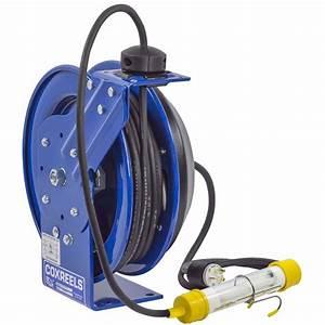 Power Cord Spring Rewind Reel  Fluorescent Tube Light  100