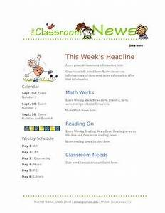google docs elementary newsletter template by stephanie With google docs elementary newspaper template
