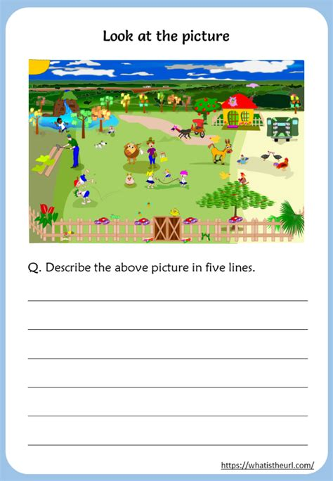 describe  picture worksheets rel   home teacher