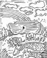 Flood Coloring Pages Noah Getcolorings Print Printable sketch template