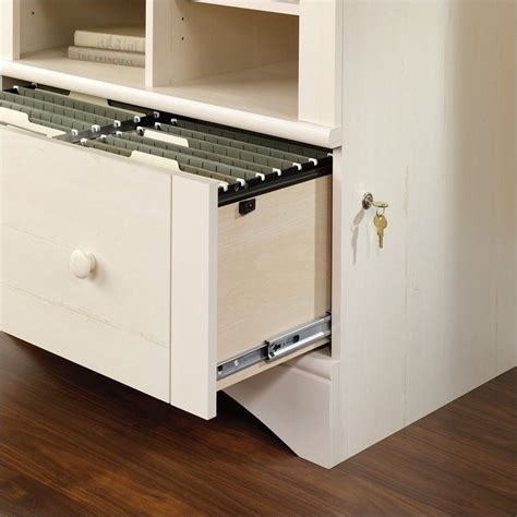 white lateral file cabinet 1 drawer lateral wood file cabinet in antique white 158002