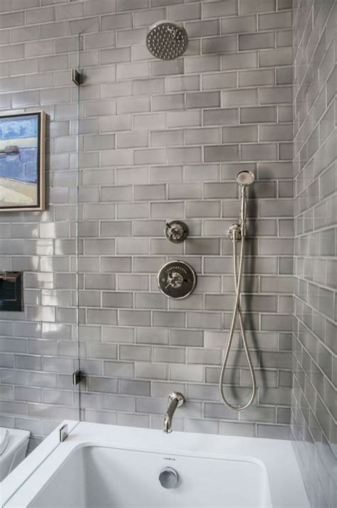 beautiful subway tile bathroom remodel  renovation