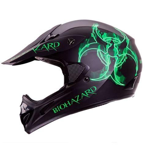 cool motocross gear biohazard matte black motocross motorsport atv dirt bike