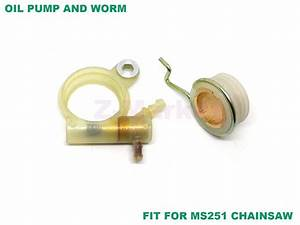 Oil Pump And Worm For Stihl Ms231 Ms231c Ms251 Ms251c