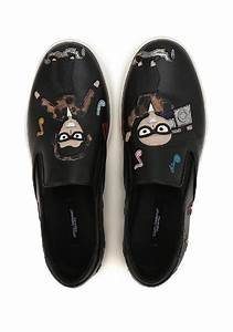 Gucci Shoe Size Chart Mens Dolce Gabbana Men 39 S Slip On Sneakers In Black Leather