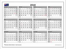 Calendar 2018, South Australia Michel Zbinden en