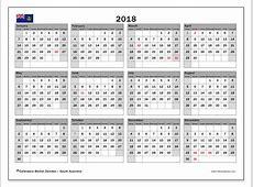 Calendar 2018, South Australia Michel Zbinden en