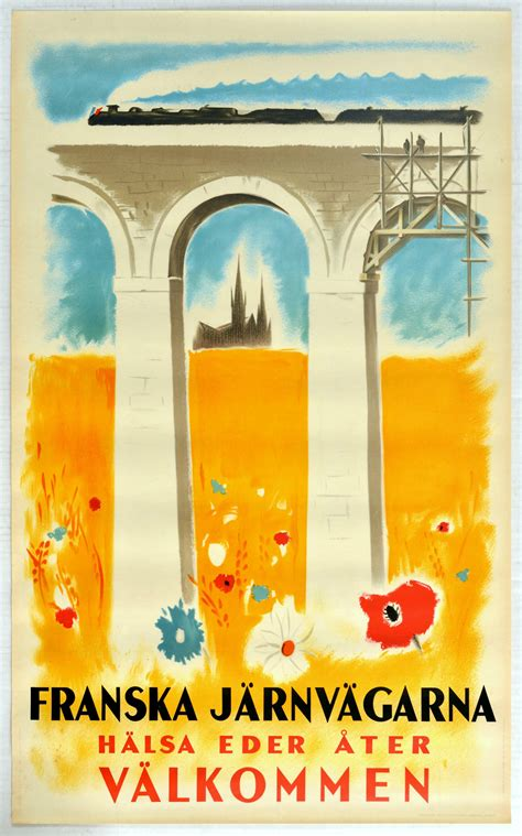 Sold Price: Travel Poster French Railway Welcome Back ...