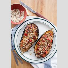 Mediterraneanstyle Stuffed Eggplant In 25'  Shoot The