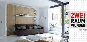 Schrankbett Mit Integriertem Sofa : nehl wohnideen 2 raum wunder mit grossem sofa davor ~ Michelbontemps.com Haus und Dekorationen