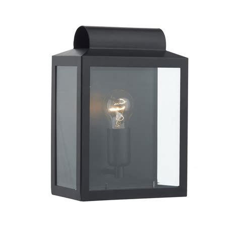 black wall lantern notary flush fitting indoor or outdoor