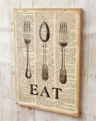 This will be a quick tutorial. Burlap Wall Decor - Eat   Audrey's