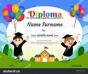 Certificates Kindergarten Elementary School Diploma ...