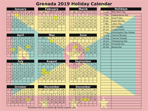 grenada holiday calendar