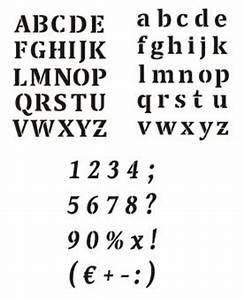 Buchstaben Schablone Metall : schrift schablone wand mal motiv schablonen druckbuchstaben alphabet klein alphabet gro und ~ Frokenaadalensverden.com Haus und Dekorationen