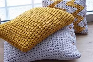 Kissen Häkeln Anleitung : gro es h kel kissen aus textilgarn omniview dein diy blog ~ Cokemachineaccidents.com Haus und Dekorationen
