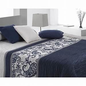 Couvre Lit Bleu : couvre lit 250x270 cm tiss jacquard carvex bleu pour lit de 160x200 cm fabriqu en espagne c 03 ~ Teatrodelosmanantiales.com Idées de Décoration