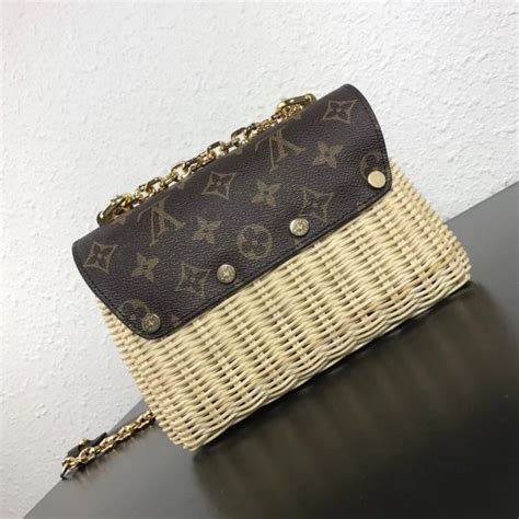 louis vuitton twist pm bag monogram woven
