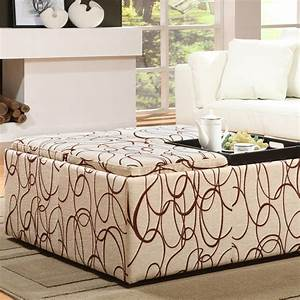 furniture tufted coffee table oversized ottoman coffee With oversized coffee table with storage